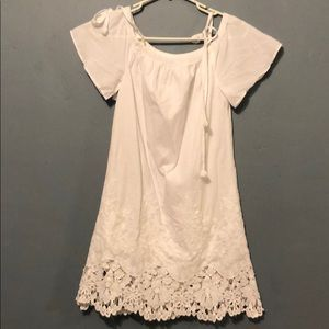 MADEWELL - White Off Shoulder Dress (XXS)